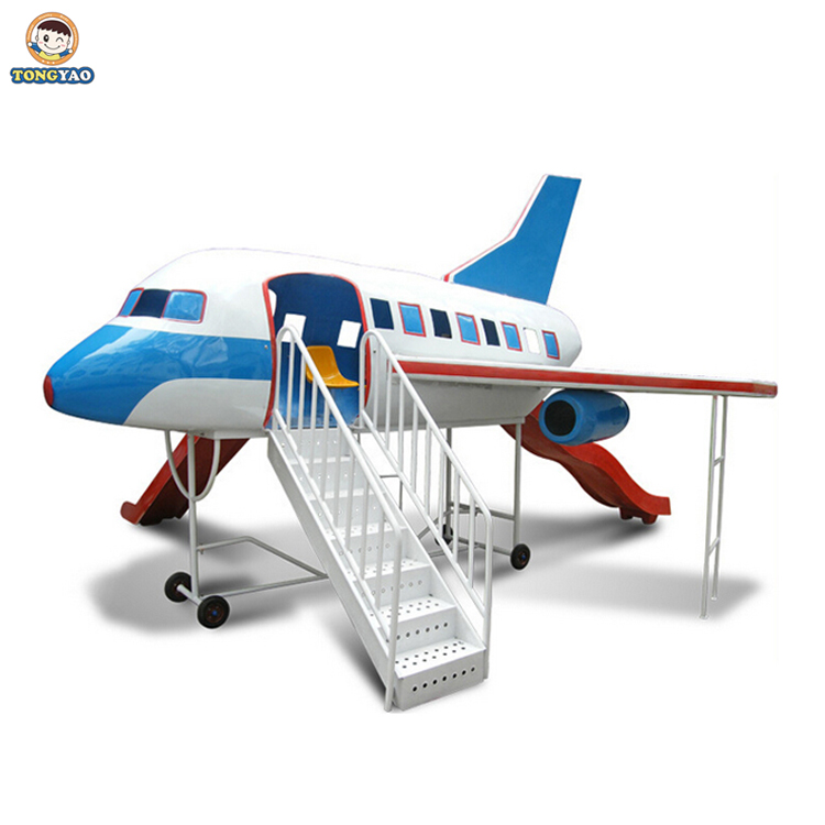 fiber glass airplane outdoor playground,children airplane playground equipment