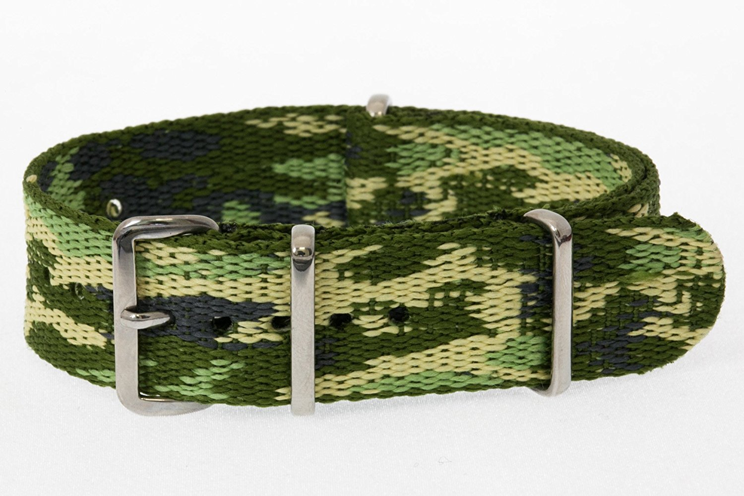 a069e307e1a Get Quotations · 20mm   Camouflage   James Bond Nylon Nato Watch Band  Military Strap G10