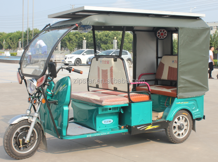 solar tricycle 48V800W 3 Wheel Electric Passenger Auto Taxi Rickshaw / Hot Sale Battery Tricycle