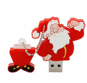 100% real capacity Christmas Gift USB Flash Drive64G Cartoon Santa Claus USB Drive USB 2.0 Flash Memory PenDrive