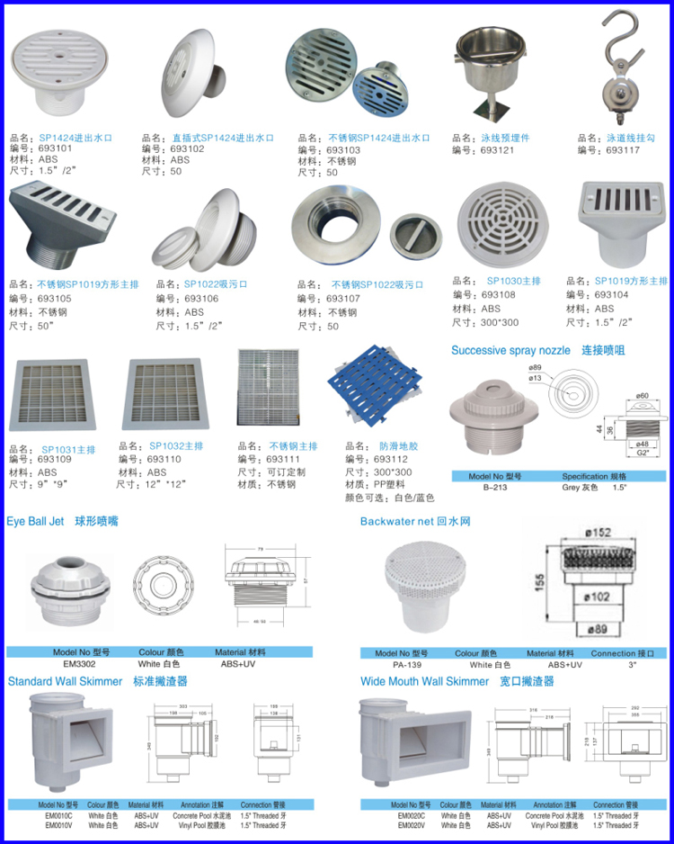 Swimming Pool Fitting Pool Water Return Outlet And Inlet Buy Swimming Pool Fitting Pool Water