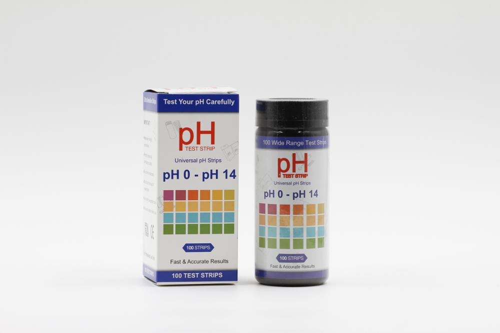 Wancheng supply super sensitive Universal ph paper strips, ph test paper strip ph 0-14