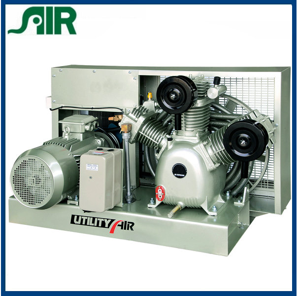 1.2m3/min/420kg Equipped with patent intake silencer no cylinder media pressure Industry reciprocating air compressor