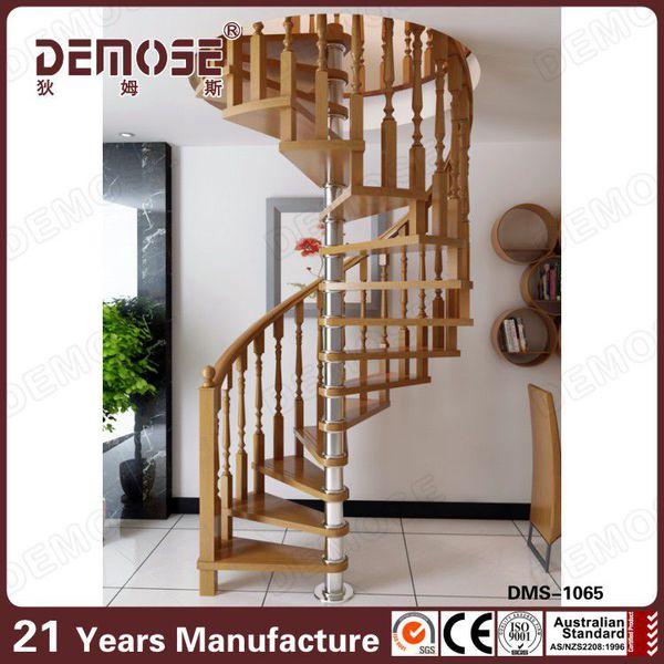 interior escaleras de hierro fundido de madera con colores hechos en china