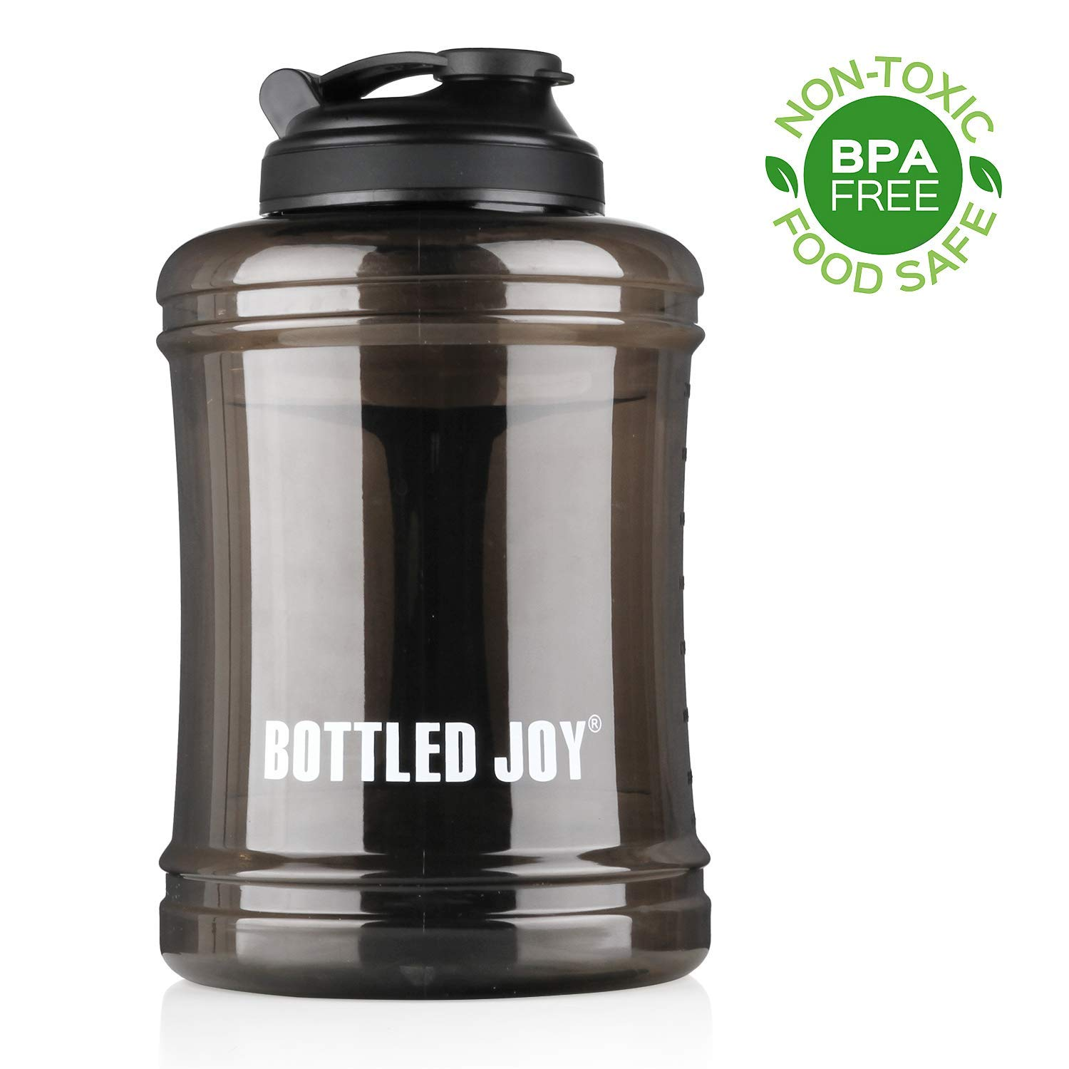 BOTTLED JOY 2.5L Large Capacity Water Bottle with Handle,Sport Large Water Bottle Gym Drinking, Half Gallon Reusable BPA Free Water Bottle 83oz 2500ml,Big Water Bottle for Gym Travel Outdoor
