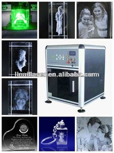 3d picture laser subsurface machine for engraving glass cube(professional manufacturer)
