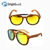Brightlook Hot Selling Photochromic Wooden Sunglasses Mens 2019