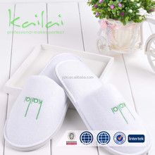salon spa hotel slippers disposable close toe/100% cotton waffle slipper/Excellent hotel slipper