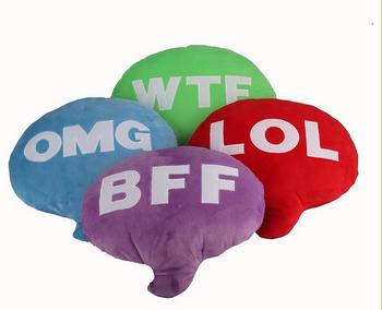 Wholesale Follow/lol/bff Chat Bubble Emoji Pillow/ Coloful Soft Plush  Pillow - Buy Bubble Pillow,Wholesale Follow/lol/bff Chat Bubble Emoji  Pillow/
