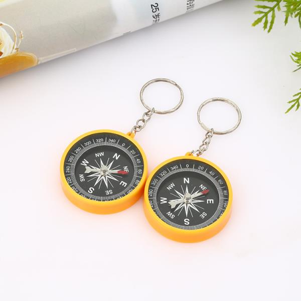 compass keychain, Wholesale Small Mini Kids Compass with Keychain