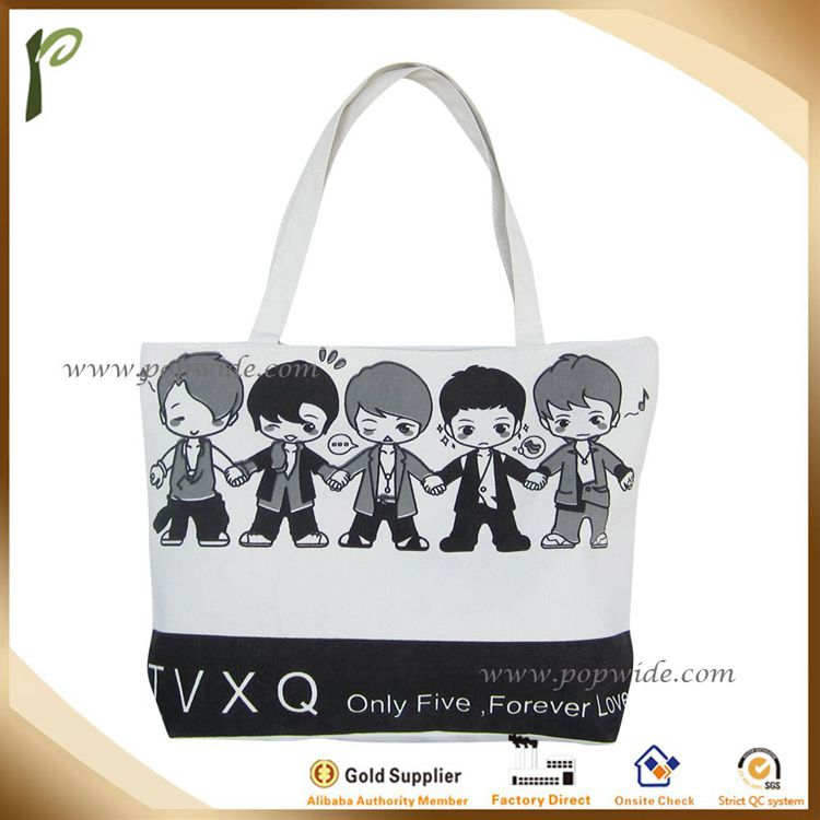 Popwide Promotion top quality custom cotton ecobag
