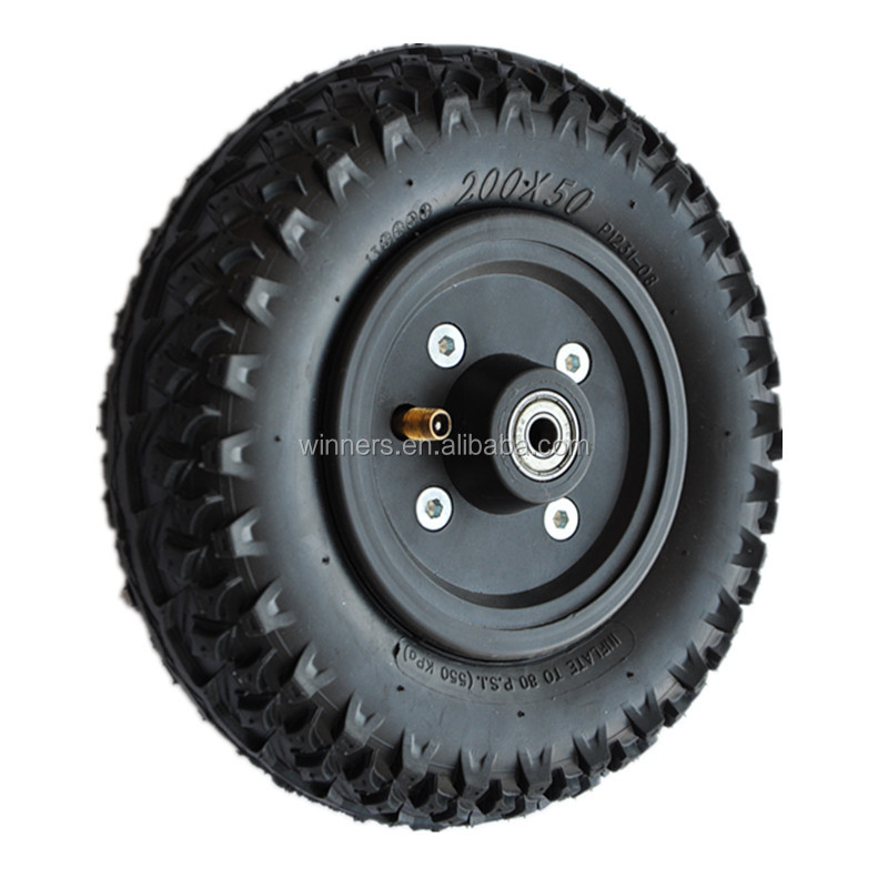 8 Inch Mountain Bike Tire Rubber Wheel Electric Off Road Bike
