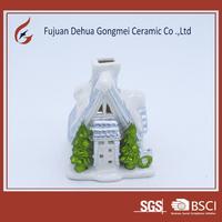 porcelain house shape tea light candle holder hotsale