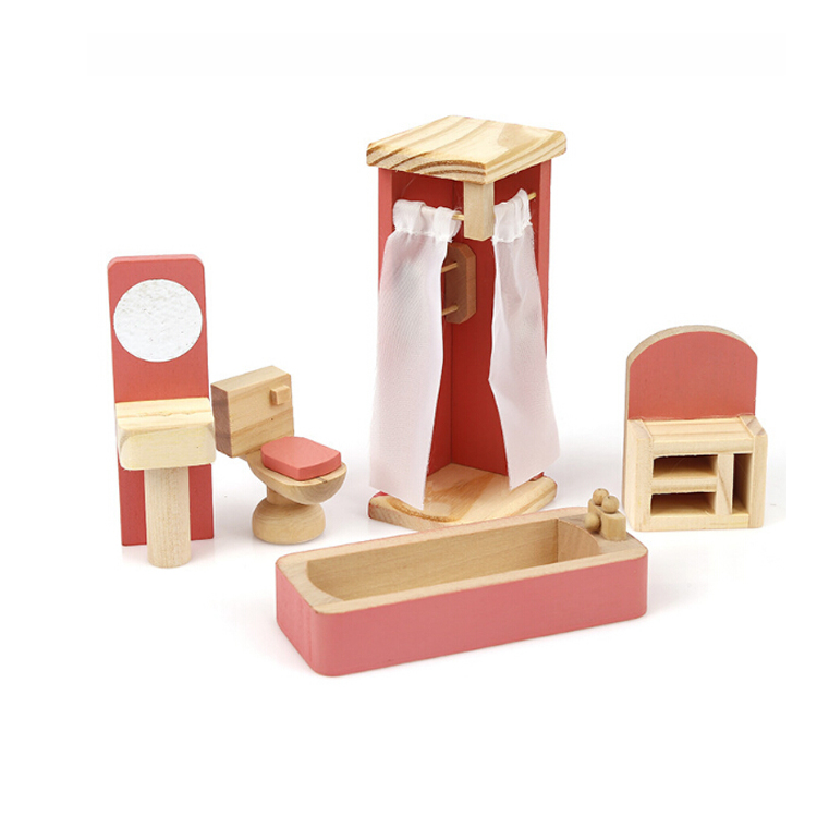new arrival DIY design doll house miniature models pretty priness kids room wooden toys