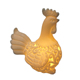 Modern home decoration dull ceramic cock easter chick rooster mini LED night light for living room