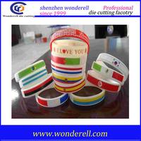 fashion new design crytal Bible Verse Christian Silicone Rubber Wristband Wrist Band Bracelet Bracelets