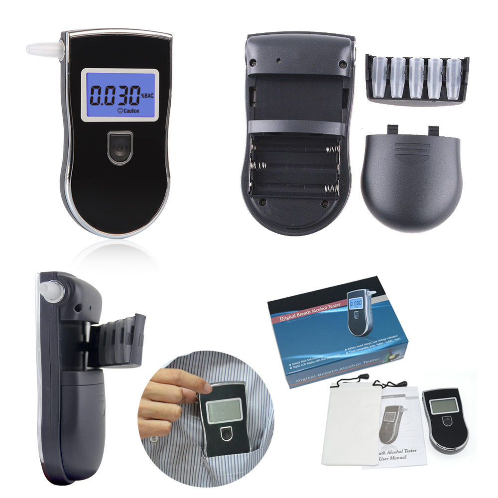Hot item at-818 LCD display high quality breathalyzer alco tester with CE&RoHS