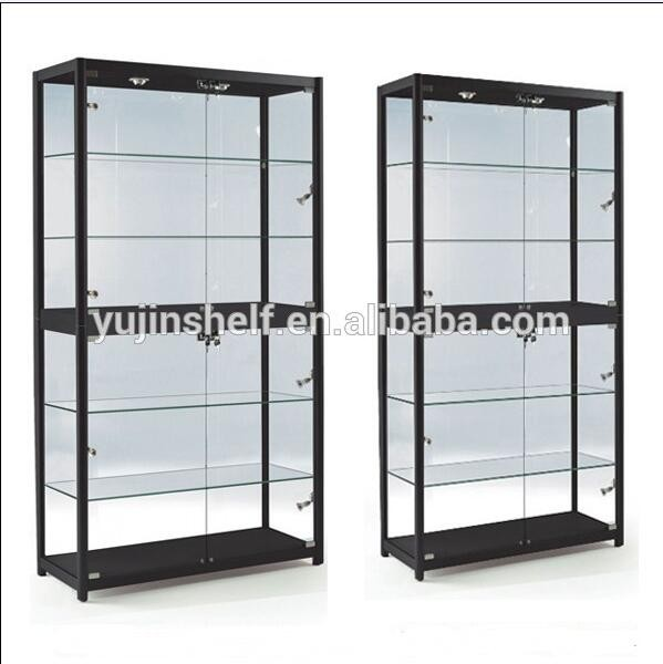 Top Sale Free Standing Toys Cabinet Showcase Store Glass Display