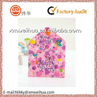2015 custom birthday party paper invitation card for kids