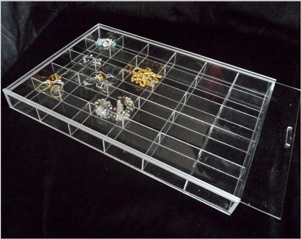 clear acrylic compartiment bac de rangement transparent plexiglas bo te avec couvercle lucite. Black Bedroom Furniture Sets. Home Design Ideas