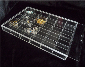 Clear Acrylic Compartment Storage Bin Transparent Perspex Box with Lid Lucite Box with Divider & Clear Acrylic Compartment Storage BinTransparent Perspex Box With ...