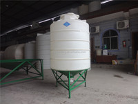 Plastic Manufacturing 2000liter cone bottom water storage tank