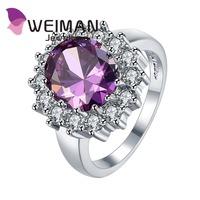 Wholesale high quality simple design diamond wedding zircon ring