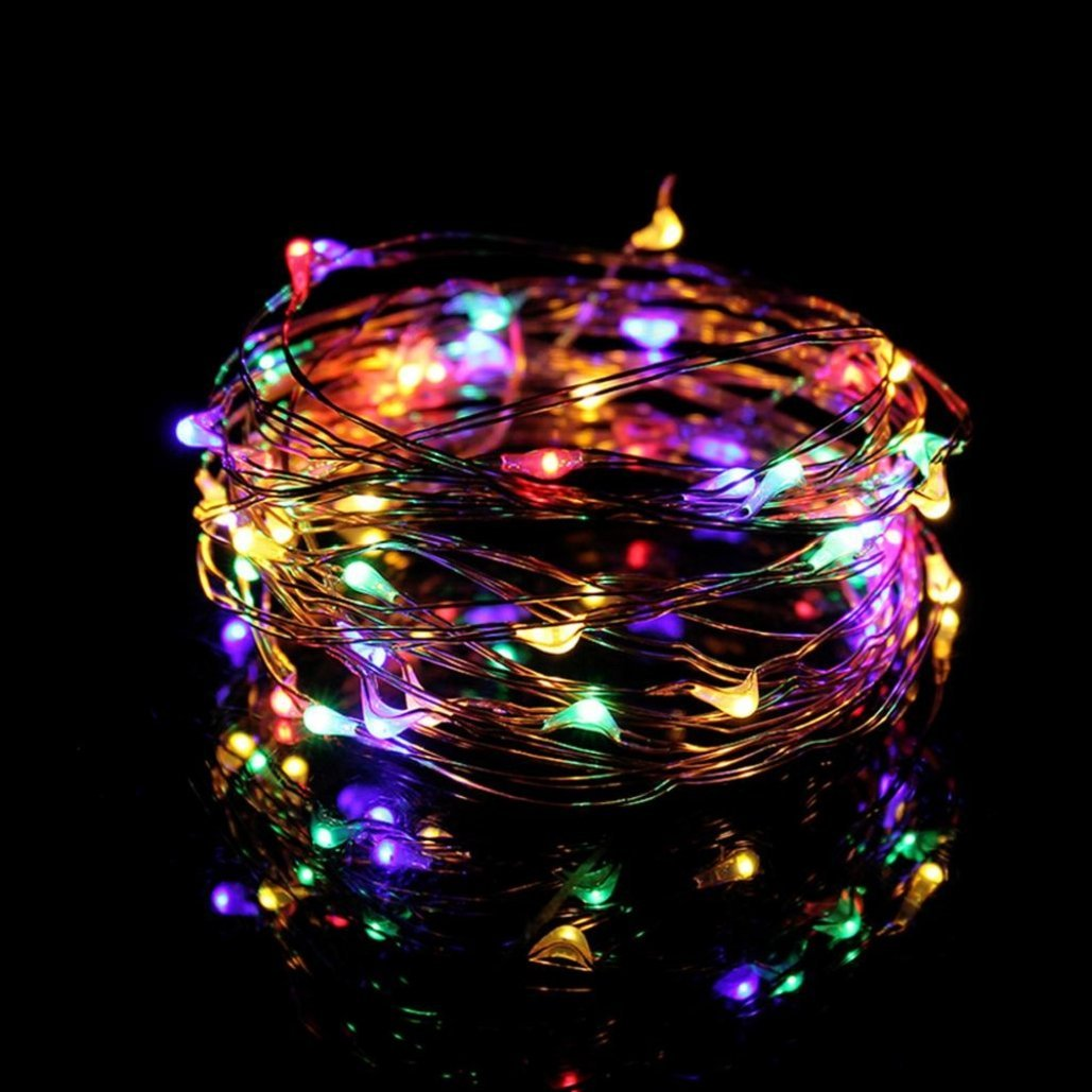 Waterproof 5M 50 LEDs USB connector String Fairy Lights Garland Copper Wire ,Tuscom (Multicolor)