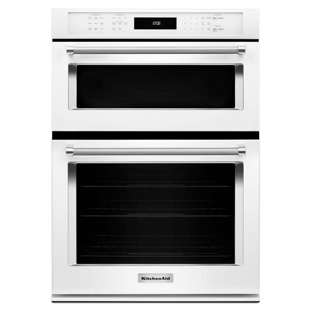 Get Quotations Kitchenaid Koce500ewh 30 Double Electric Wall Oven With 5 0 Cu Ft Even