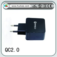 USB 3 ways ports mobile phone charger EU US plug