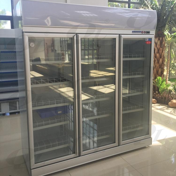 Upright beverage display chiller with lock refrigerator for 1 door display chiller