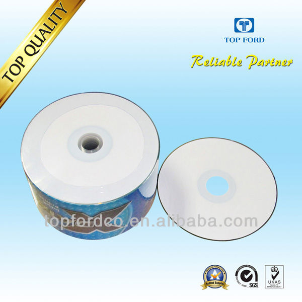 Blank CDR DIsc 700M 52X White Inkjet Printable 100% Virgin and Silver Coating 50/100pcs Spindle