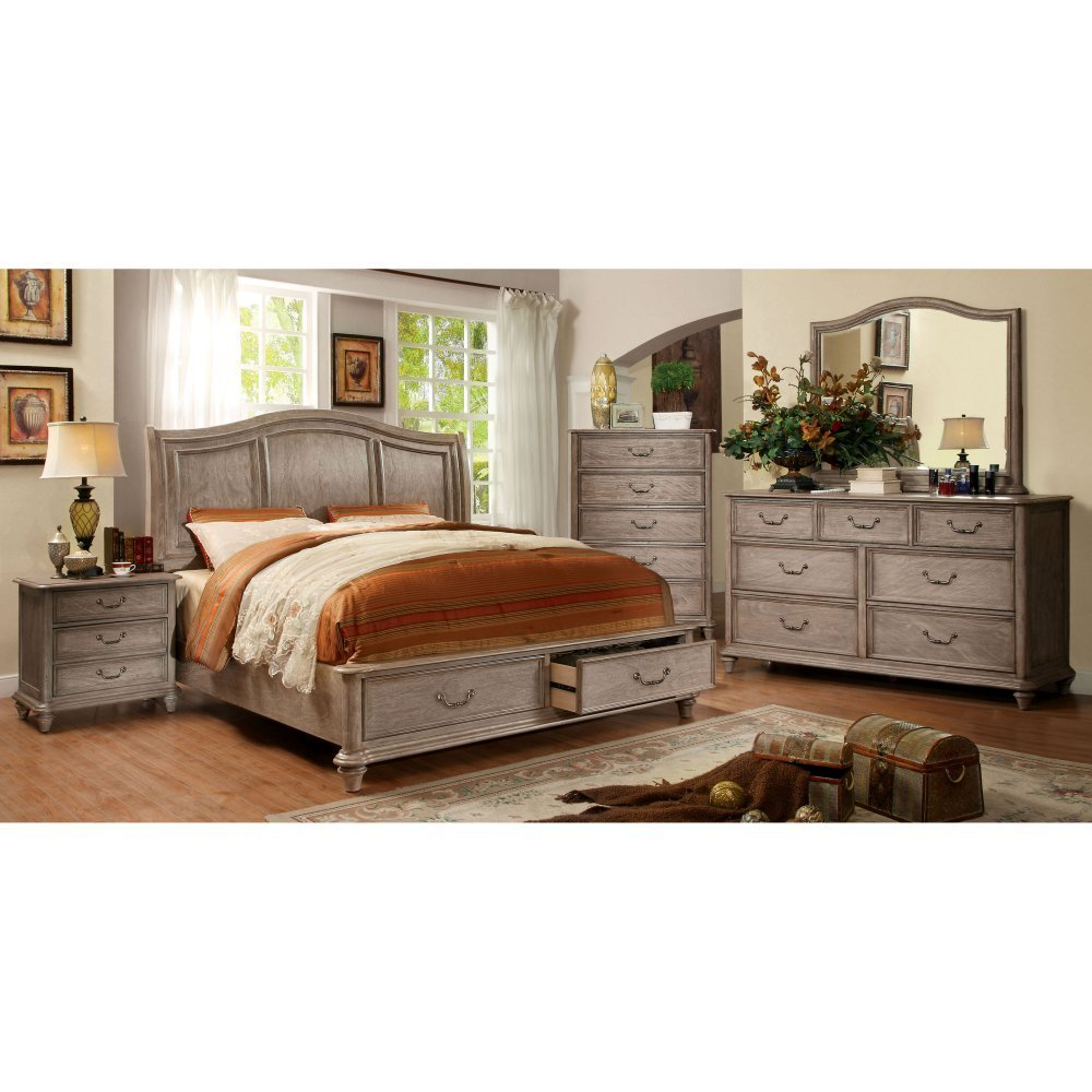 Furniture of America Miraglia Storage Sleigh Bed Set