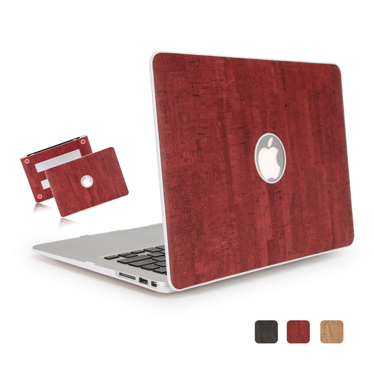 half off 77c84 abb13 Logo Hole Pc Pu Skin Leather Red Wood Pattern Case For Macbook Air 11 13  Inch,For Macbook Pro 13 15 Inch Case - Buy For Macbook Pro 13 Inch Case,For  ...