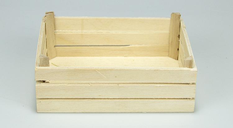 European style polished customized size wooden milk crates