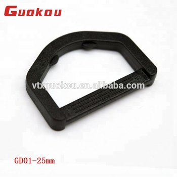 Cheap adjustable plastic D-ring buckle