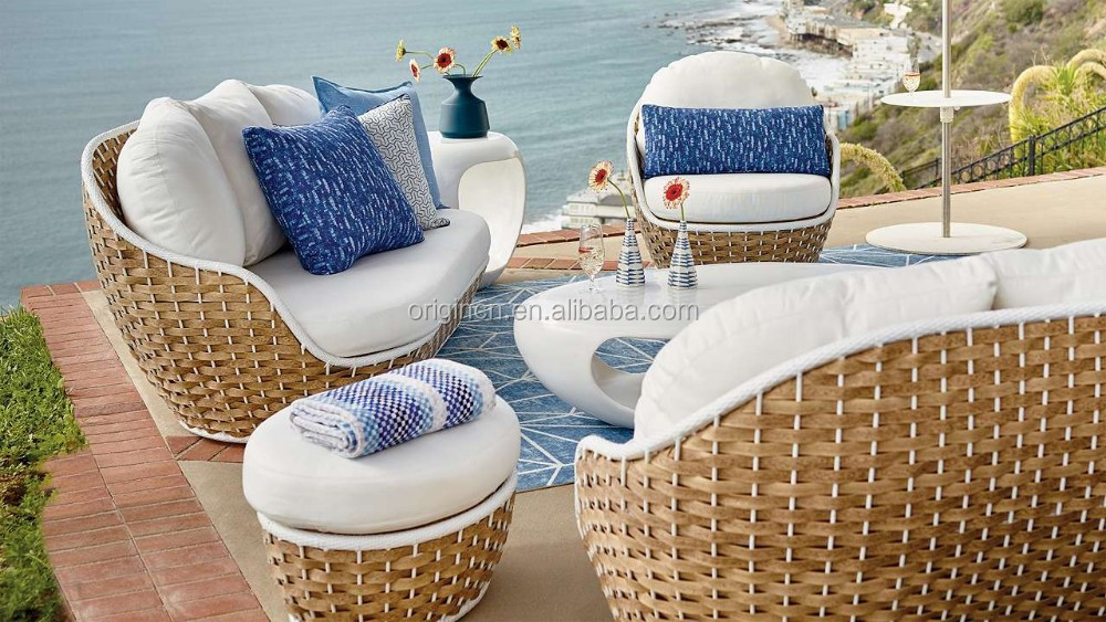 Unique Bali Style Home Casual Enterprises Patio Chair And Ottoman Furniture Rattan Porly Used Outdoor Sofas