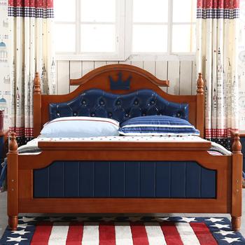 Modern Kids Bedroom Furniture Design Solid Wood Children Bed Size Single Product On