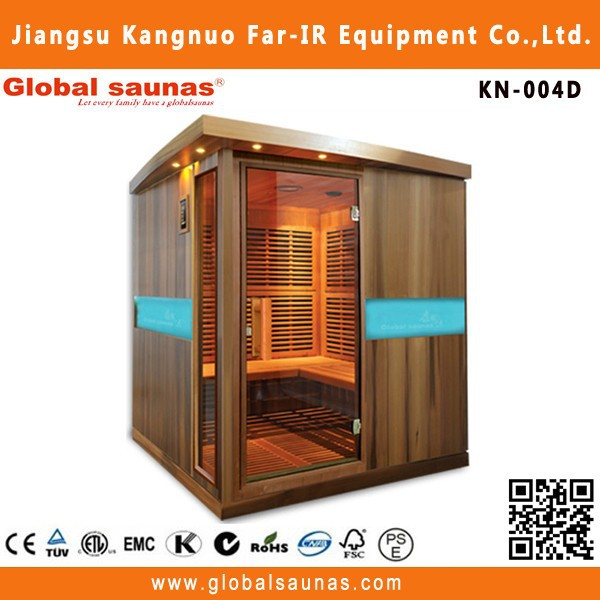 Carbon heater new product one person fir LED infrared sauna KN-004D