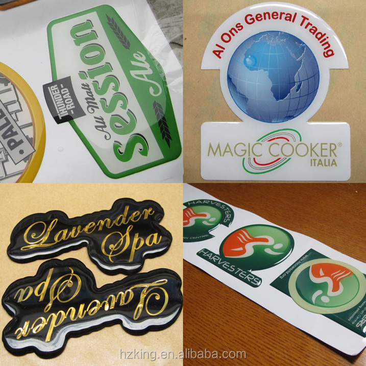 Epoxy Resin Domed Bubble Badges Gel Stickers With Silk Screen ...