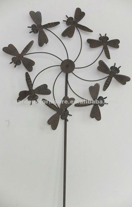 Antique Garden Stakes Metal Dragonfly Windmill Wholesale