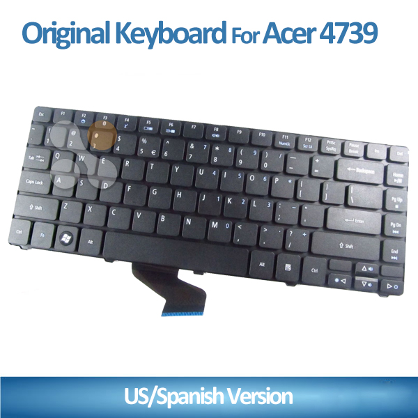 Original US/SP Layout Keyboard Replacement laptop keyboard for Acer 5942 5940g 4750 4750G 4750Z 4739 4739Z 3935 5935G