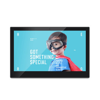 Lovely 14 Inch Programmable Square Battery Operated 3g 12v Gif Full Hd 1080p Wall  Mount Large Size
