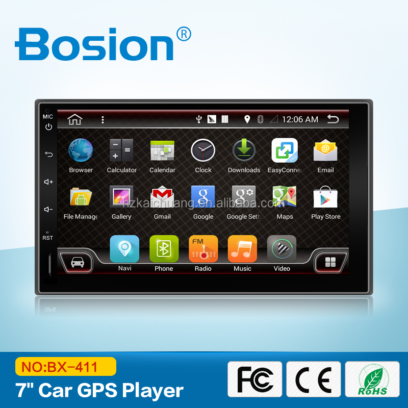 Bosion China Factory Android Car DVD Fiat Bravo 2 Din 7 inch Car DVD Player GPS with 3G and Bluetooth