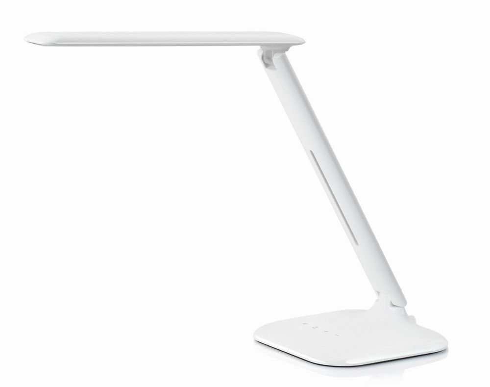 [Dimmable LED Desk Lamp] Rocketek Table Lamp 3 Lighting Modes & 5- Level Brightness LED Reading Light with Touch-Sensitive Dimmer Control for each mode, Multiple Angles Eye-protection