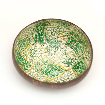 High Quality Eco Friendly Lacquer Eggshell Inlay Coconut Bowl