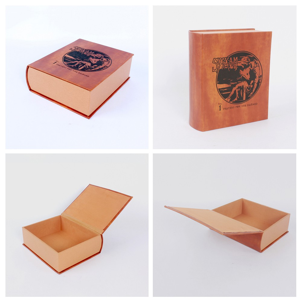 Book Shape Kraft paper box magnetic gift box