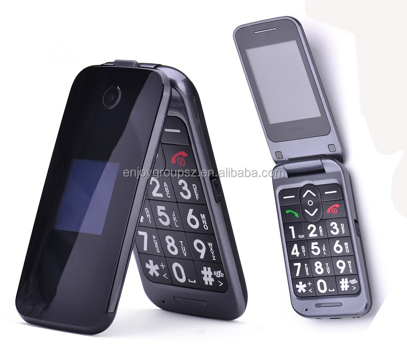 large fonts old person SOS emergency call mobile phone old man flip phone for old people