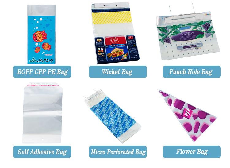 Anti-sis BOPP CPP plastik torba kendinden yapışkanlı sebze paketleme için