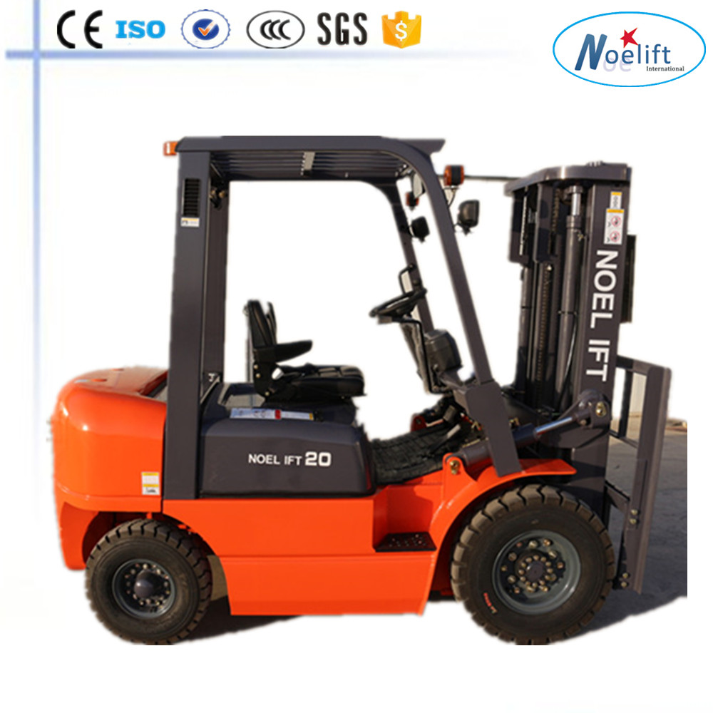 Stand-Up Forklift & Lift Truck | Rider Forklift CE&ISO Japan 2T diesel forklift truck with solid tire, side shift,full free mas